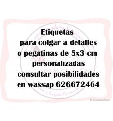 ETIQUETAS O PEGATINAS PERSONALIZADAS 5X3 CM