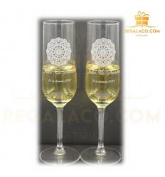 Set copas Champang personalizadas
