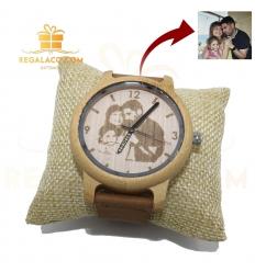 Reloj Hombre 45mm madera