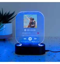 Lámpara led personalizada spotify