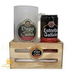 set1 papa jarra+cerveza+llavero